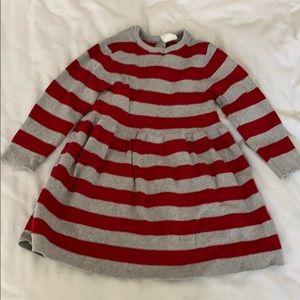 H&M girls 12-18 months sweater dress red gray